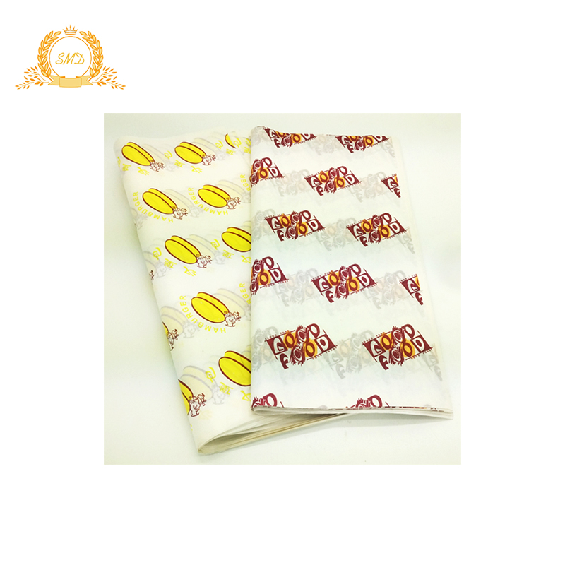 Sandwich packaging wax wrapping paper food hamburger