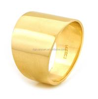 Wholesale 14k Yellow Gold 15mm Cigar Band Ring