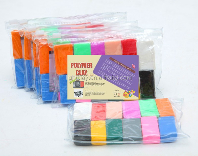 wholesale polymer clay unbaked 12 color set