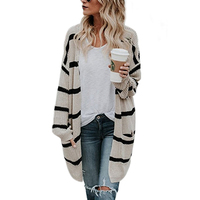 2018 Autumn Winter Fashion Women Long Sleeve Loose Knitting Cardigan Sweater Women Knitted Female Cardigan Pull Femme