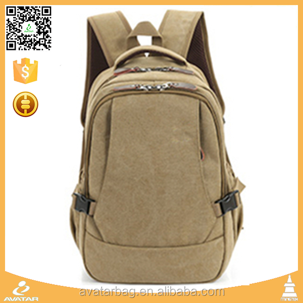 Wholesale outdoor vintage waxed unisex canvas backpack for <strong>school</strong>