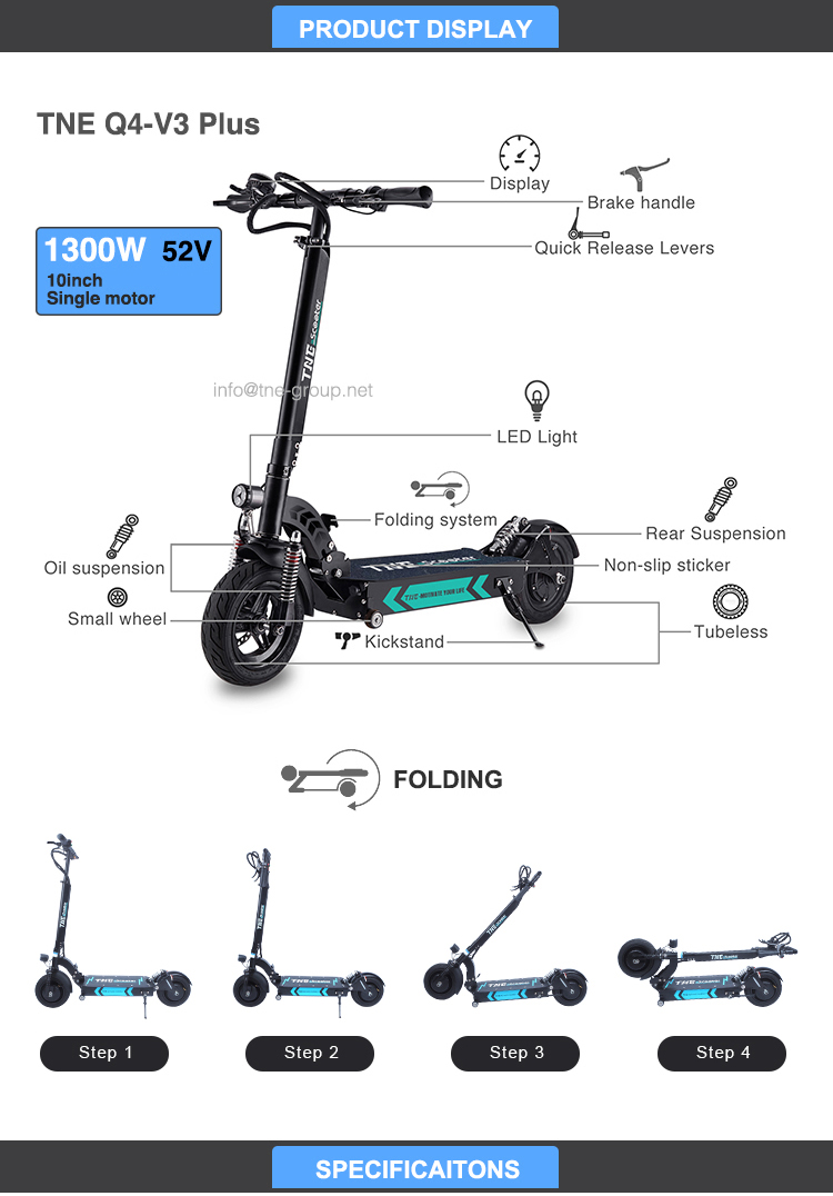 TNE cool sports two wheel 1000w electric scooter 48v 500w