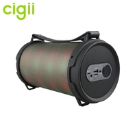 China Supplier OEM FM Radio best wireless and outdoor portable speakers bluetooth speaker with flashing light