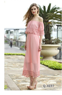 a61887e808 Long Sleeve Chiffon Floral Printed Maxi Dress Ladies Summer Casual Dresses