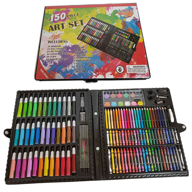150 pieces School Kids Drawing Art Stationery painting Set