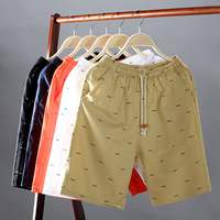 2019 Men's Summer Shorts Casual Printing Fish Bone Men Shorts Pants