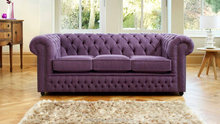 Modern vintage chesterfield sofa purple fabric wooden sectional sofa home furniture living room sofa