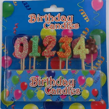 Environmental Protection Harmless Number Candles Baby Birthday Candle Creative Cute Party Cake