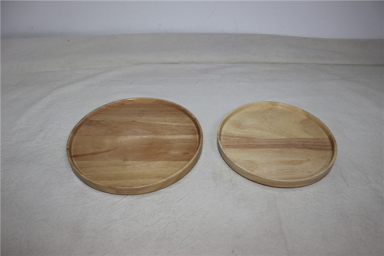 New cutlery tray rubber wood dessert plate