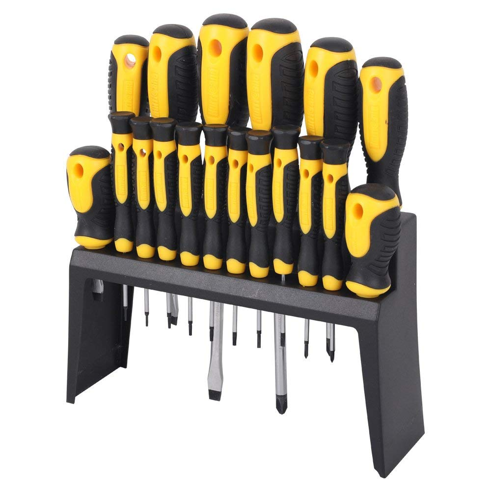 "Hurricane 02-005 18 Piece Screwdriver Set,Slotted:3/32x2"", 1/8x2"", 5/16x6"", 1/4x4"", 3/16x3"", 1/4x1-1/2"",Phillips: #0x2"",#00x2"", 3x6"",#2x4"", 1x3"", 2x1-1/2"", Torx: T5,T6,T7,T8,T9,T10x2"""