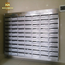 Wall Mounted Apartment Building Stainless Steel Mailbox