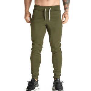 Mens Zip Jogger Trousers Casual Gym Fitness Tracksuit Slim Fit Sweat Pants