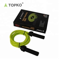 TOPKO Wholesale New Arrival Private label Foam Handled Jump Rope