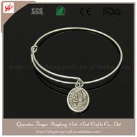 Wholesale Custom European Braided Leather Charm Bracelet 925 Sterling Silver Bracelet