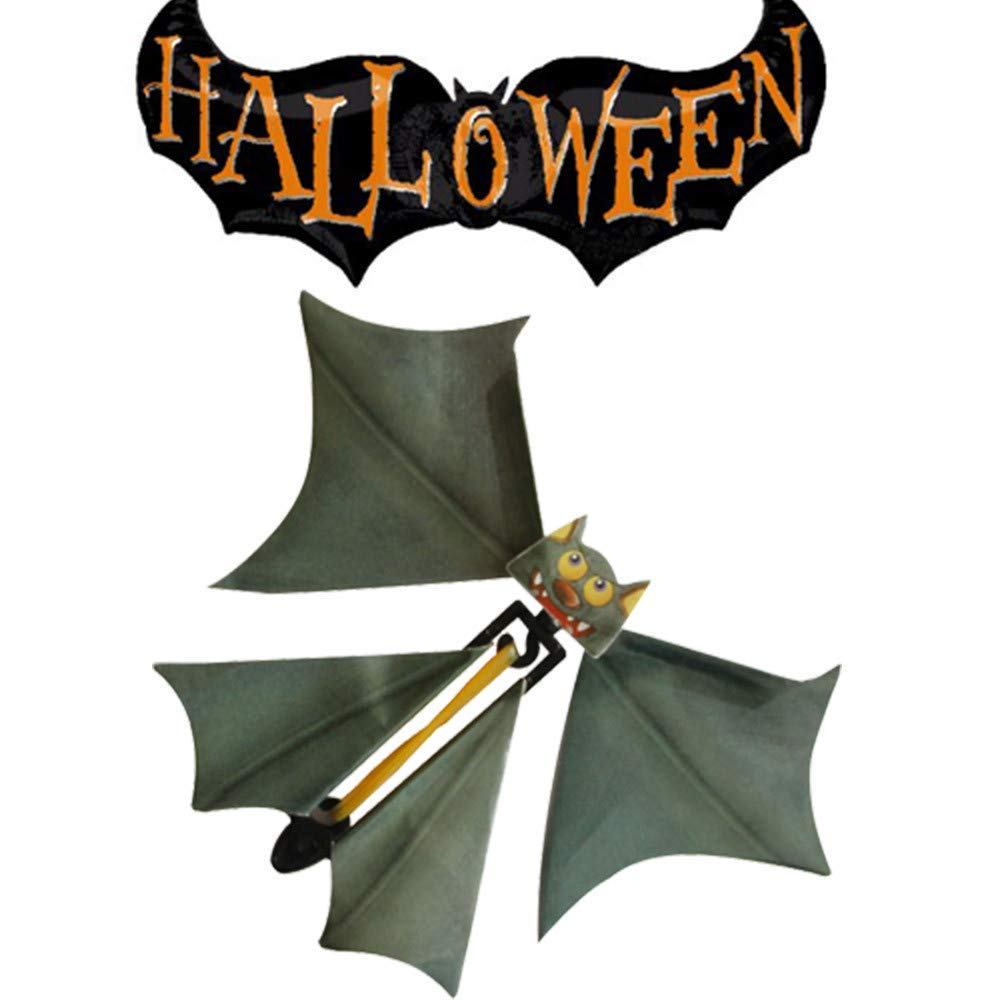 Gbell Halloween Magic Flying Bat Flutter Card Toy, Prank Flying Paper Bats Surprise Card Toys Gift for Kids Boys Girls Adults,1Pcs,11x14CM (Multicolor)