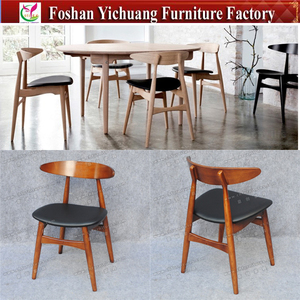 YC-SWO1-1 Modern new design wenger wood restaurant chair with PU cushion