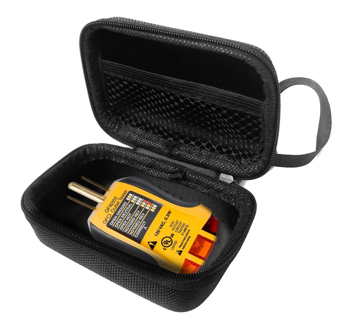 FitSand Hard Case for Sperry Instruments GFI6302 GFCI Outlet Receptacle Tester Travel Zipper Carry EVA Hard Box