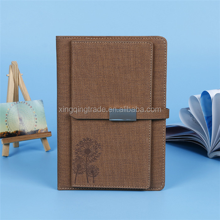 Faux leather office business soft copybook A5 Notepad Diary Fashion Business Notebook Magnetic buckle notebook