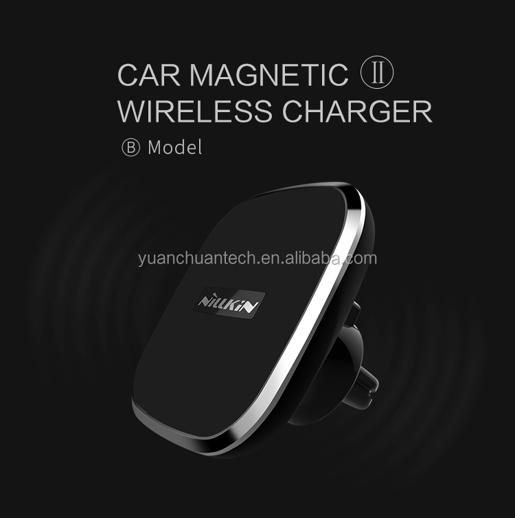 Nillkin Universal 360 Degree Rotatable MC016 B Model 5V 2A Car Holder Wireless Charger 2 For Smart Phone For iPhone X PN-043