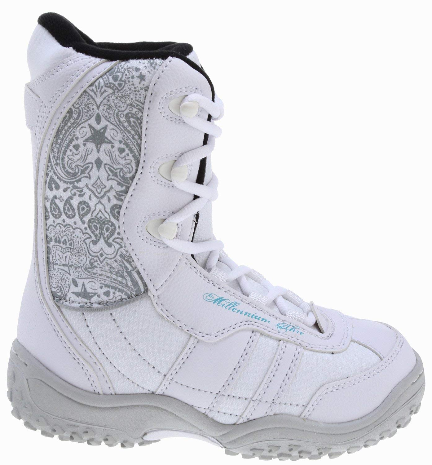8abb86c6ba62 Get Quotations · M3 Venus Jr. Snowboard Boots White Grey Youth
