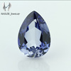 Nature cut pear shape blue artificial sapphire ,sapphire price per carat