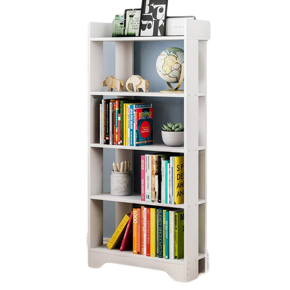 DULPLAY Murder Wooden Bookcase 5-Tier, Easy Assembly Waterproof Storage Rack Thickened Compact Library Display Stand Multifunctional Furniture for Home or Office -C 60x22x127cm(24x9x50inch)