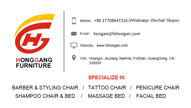 Luxury shampoo bed hair salon furniture with massage function
