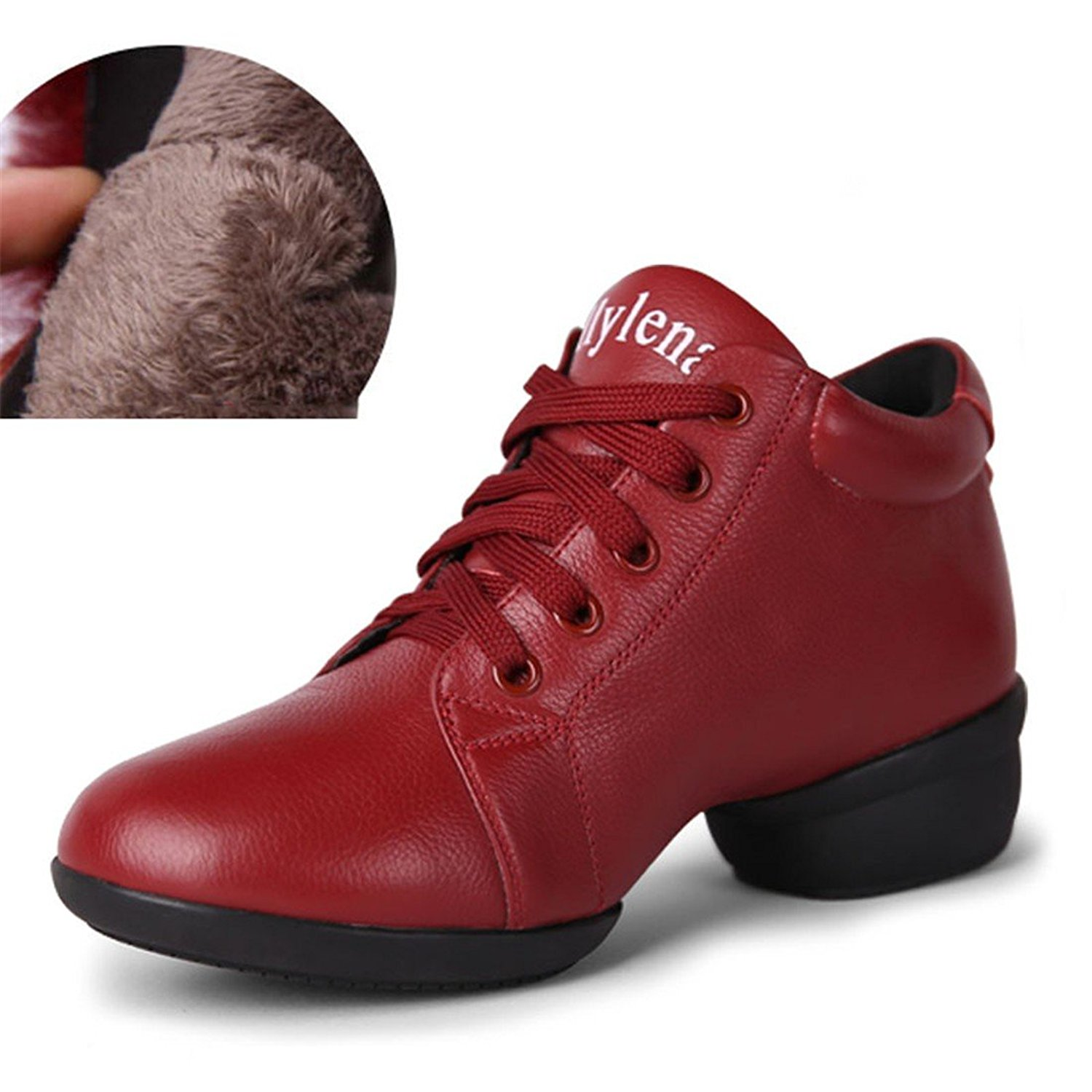 WXMDDN The Girl Latin Dance Shoes Big Red Dance Shoes Dance Shoes Soft Bottom Breathable Indoor and Outdoor Dance Shoe