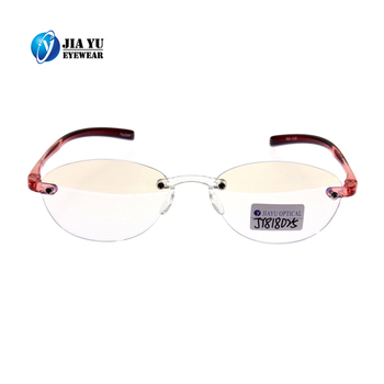 Wholesale High Quality Lightweight Design Optics Plastic Rimless bifocal Reading Glasses