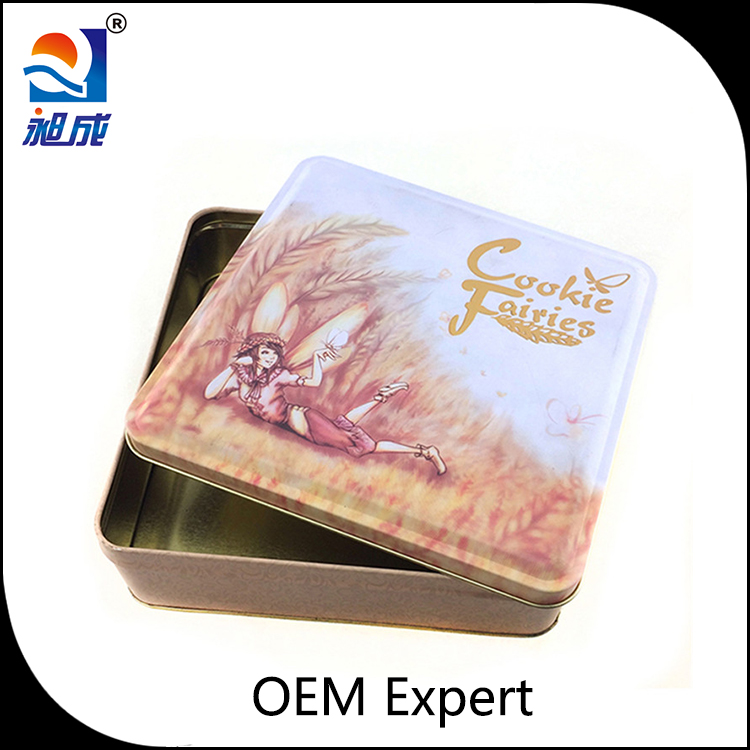 sanitary pad tin box/book shape tin box/europe biscuit tin box