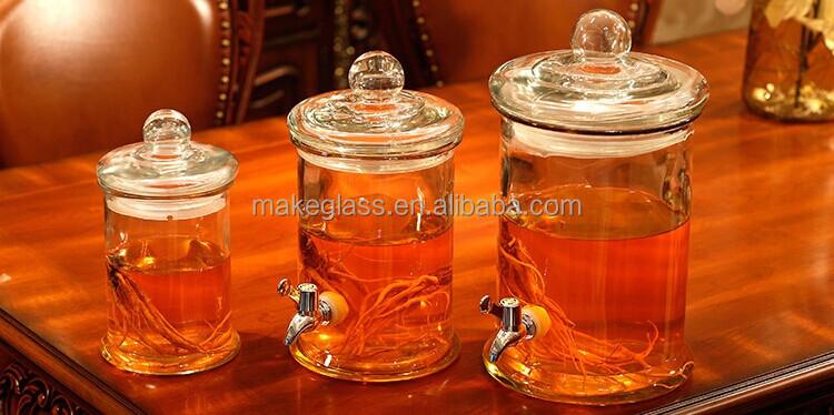 pots de vin en verre bocal en verre avec robinet bocaux en verre verrerie bouteilles bocaux. Black Bedroom Furniture Sets. Home Design Ideas