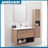 Plywood Veneer Melamine Bathroom Washing Basin Furniture with Storage Cabinet for Department Project Wood Bathroom Furniture