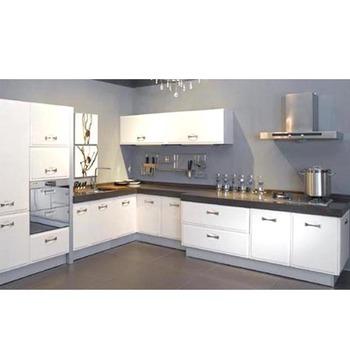 Kabinet Dapur Berkualitas Baik Dengan Akrilik Panel Pintu Lemari Putih