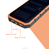 manual for power bank battery charger solar panel power bank 8000mAh with LED indicator