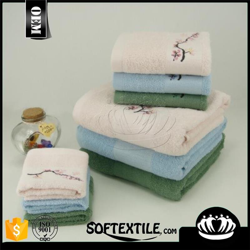 wholesale 100% cotton Sirospun embroidery logo small bath towel