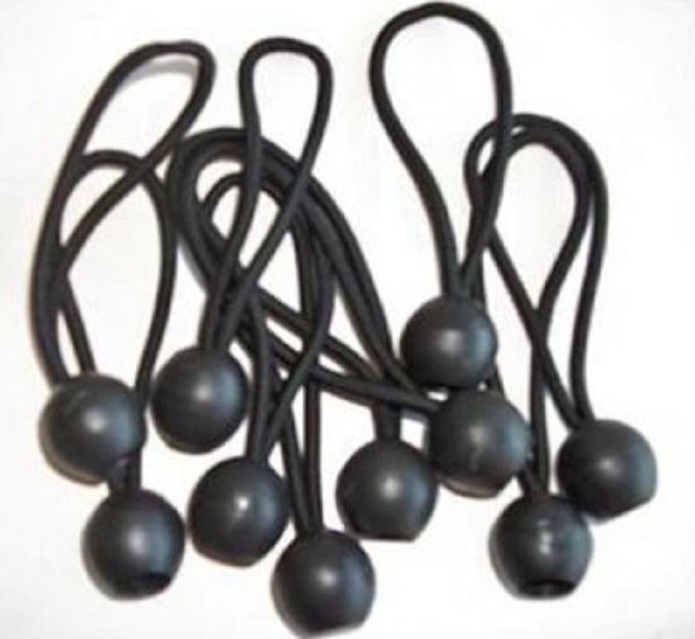 "6"" BLACK BALL BUNGEE/BUNGEES ~ Tarps - Canopy 50pc LOT"