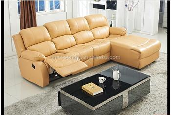 Top Leather Recliner Sofa L Shape