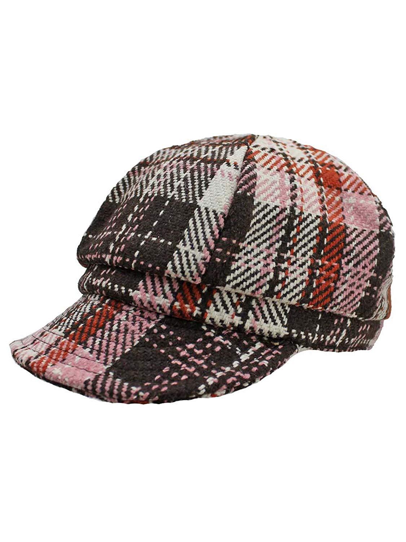 da56c705639c1 Get Quotations · Luxury Divas Plaid Pattern Newsboy Hat Cap