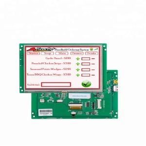 7 inch Open Frame color TFT LCD monitor with SD card,connect with Any MCU via command set