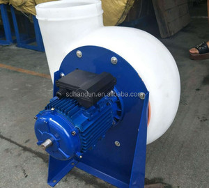 1.5KW Power PP Chemical Resistant Centrifugal Blower Fan
