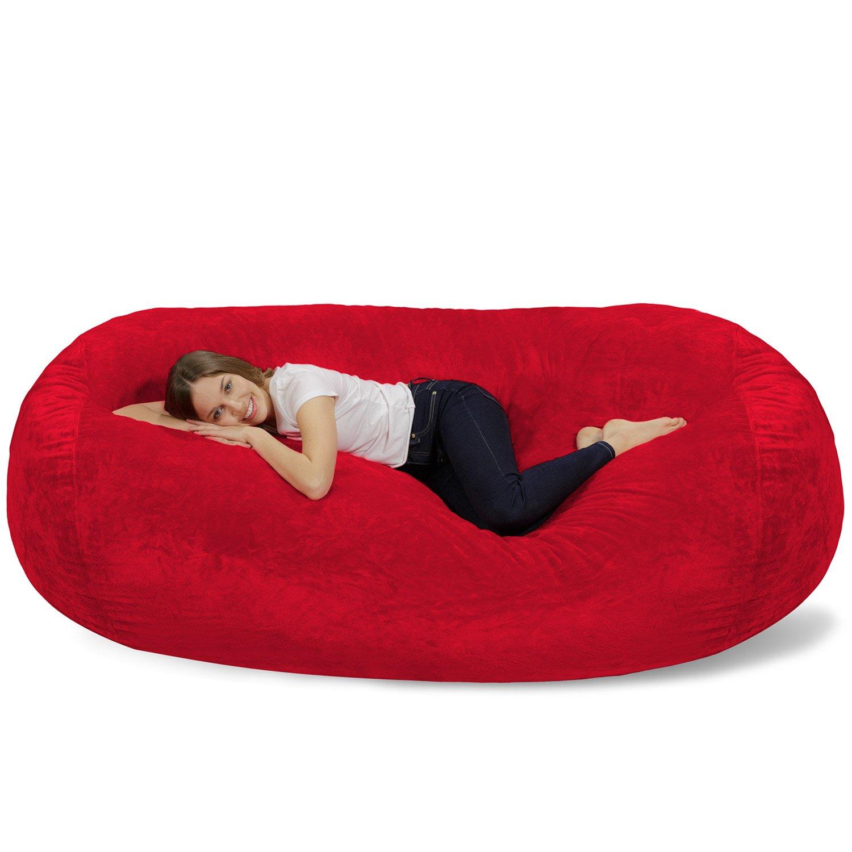Awe Inspiring Buy Chill Bag Bean Bags Giant Bean Bag Lounger 7 5 Red Forskolin Free Trial Chair Design Images Forskolin Free Trialorg