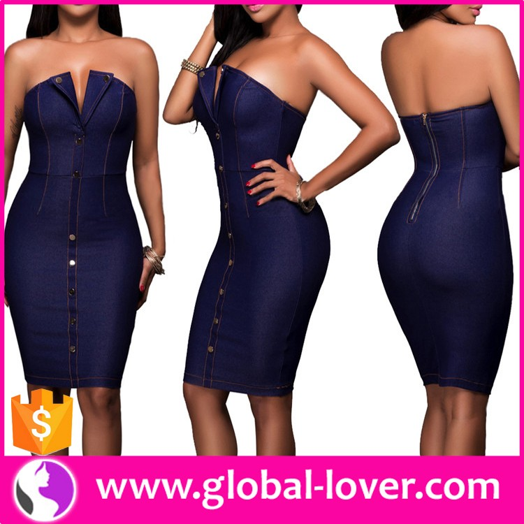 Wholesale Strapless Bodycon Dress Jean Dress Plus Size Denim Dress - Buy  Plus Size Denim Dress,Strapless Bodycon Dress,Jean Dress Product on ...