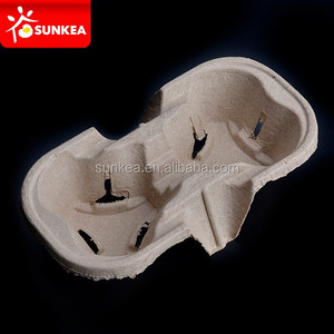 Wholesale Coffee Cup holder tray, Cup moulded Pulp Trays