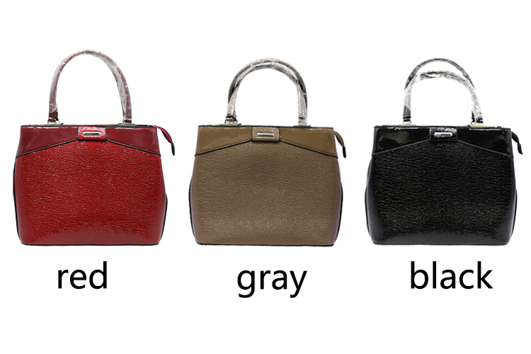 Handmade New Model Patent Pu Leather Handbag Women Wholesale Tote Zipper  Bags Famous Brand Ladies Hand d55845fddedf5