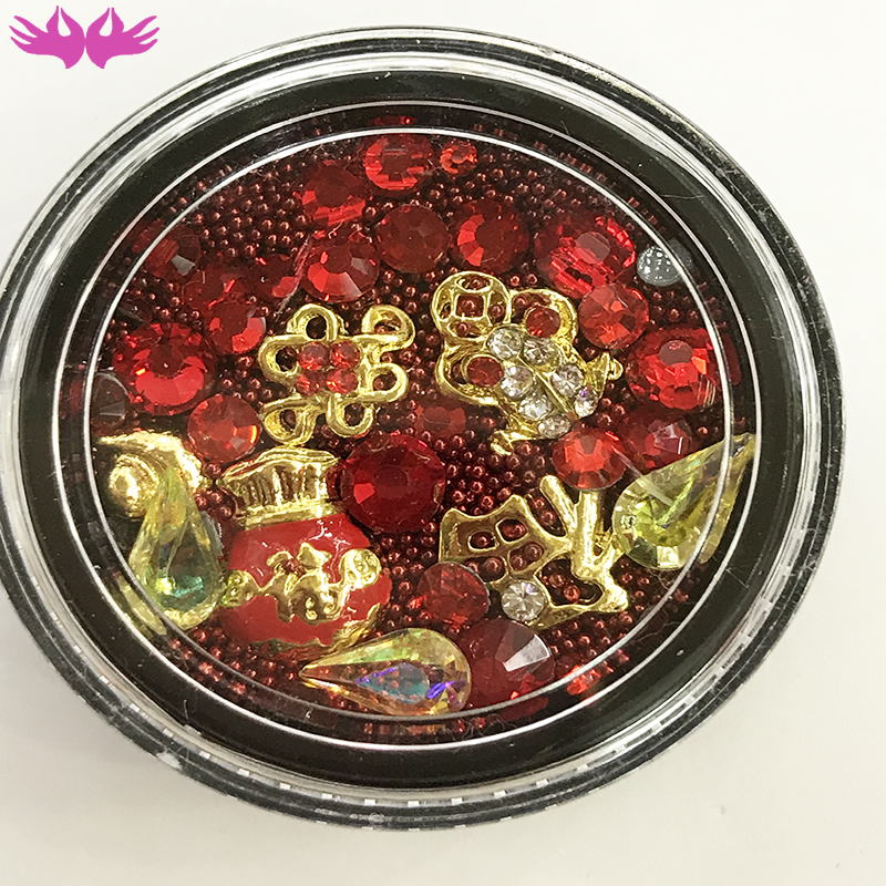 2019 3D Nail Art Mixed Design Disks Chinese Style Lucky Cat Stomes Ally Studs nail decoration for art
