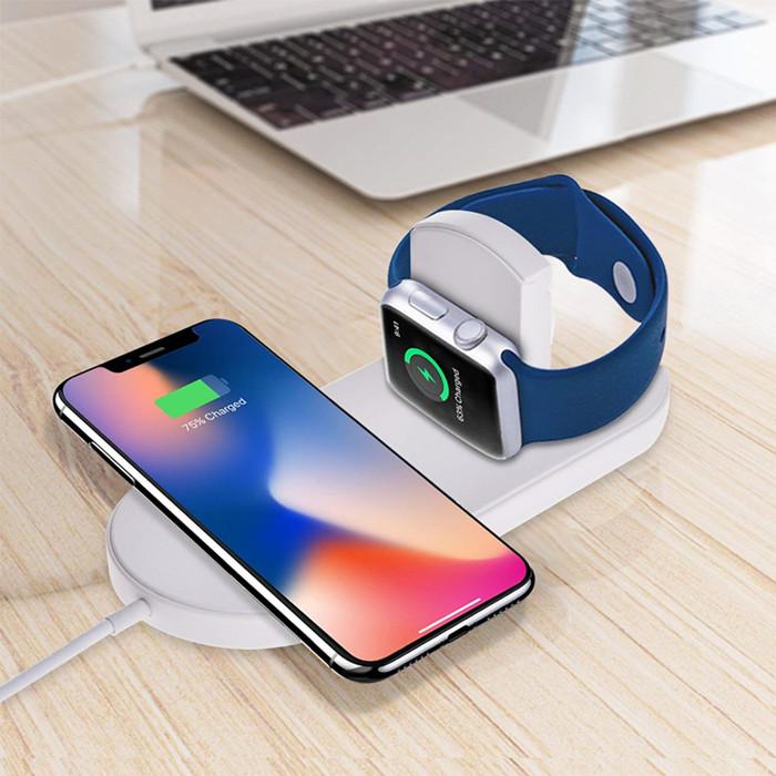 2019 Più Nuovo Prodotto 2 in 1 Caricatore Del Telefono Senza Fili Con Trasmettitore Ad Alta Velocità Modulo di Lavoro Su Tutti I Telefoni