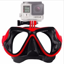 NUOVO <span class=keywords><strong>Camera</strong></span> Mount Diving Mask <span class=keywords><strong>Scuba</strong></span> Snorkel Occhialini Da Nuoto per action cameras