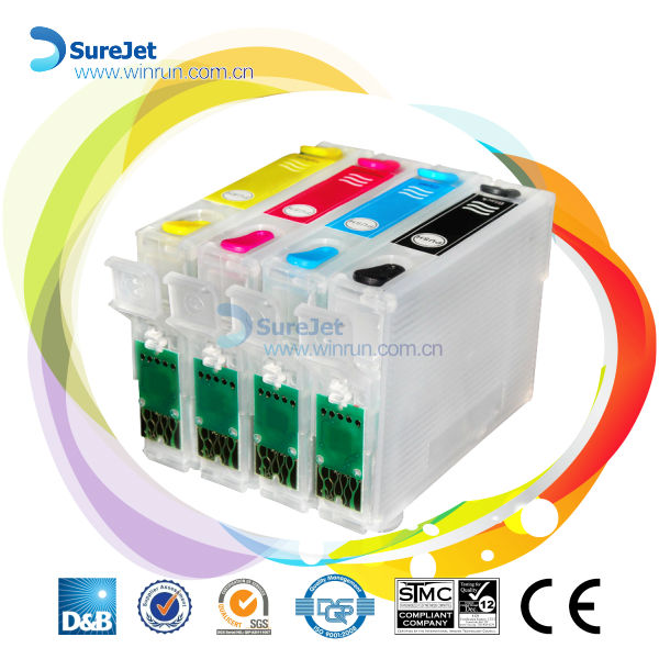 T2531 T2532 T2533 T2534 with new version auto reset chip for Epson WorkForce WF-7610 empty cartridge