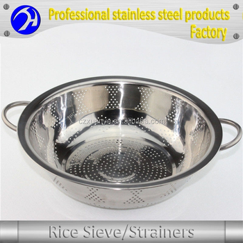 Eco-friendly Stainless Steel Vegetable Fruit Rice Colander / Drain ...