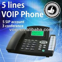 5 lines wireless voip phone ip phone 2 line phone switch
